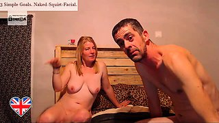 Horny milf with big tits sucks a cock and takes a hot facial