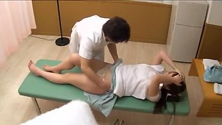 Busty Jap teen screwed in voyeur erotic massage movie