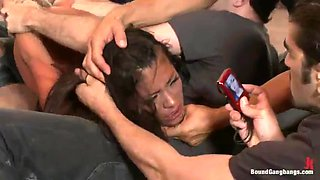 Home Invasion brutal domination for Asian babe