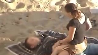 Nude Beach - A loving Couple with great CIM & Swallow