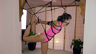 Lt11 restricted senses pink realise swimsuit bondage