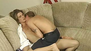 Blowjob Action on the Couch