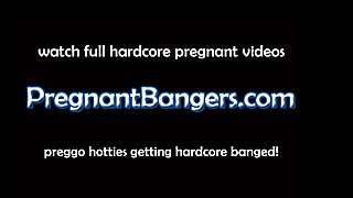 Pregnant Bangers Taking a Shower