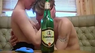 Russian mom saggy tits sex drunk party young guy