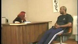 black guy fucks the midget secretary