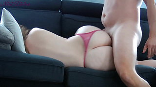 French stepmom lets not virgin son fuck her big ass.