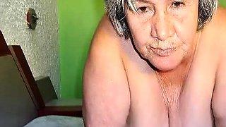 Old latina amateur granny  with big boobs and big ass