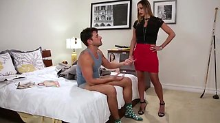 Brunette Takes Step Brother's Virginity