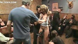 Incredible homemade Piercing, Public porn video