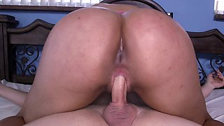 Milf with large tits and an ass to match is naked and fucked