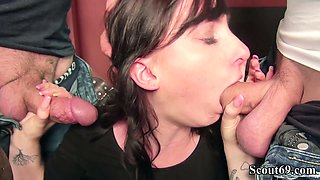 GERMAN BROTHER CAUGHT MILF STEP-SISTER JENNY AND GET FUCK