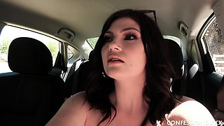 Jessica Rex is a big ass brunette who's having a lucky day!