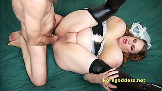 Busty Maids perfect ass gets a big cock rammed in it