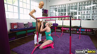 Cock hungry blondie Melody Parker gets fucked by a monster dick
