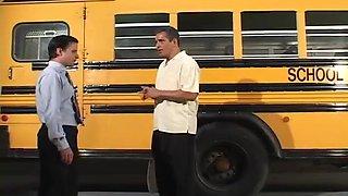 School Bus Driver Fucks His Girlfriend