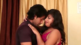Booby beautiful girl padhu dancing and boobs pressing romance on sofa
