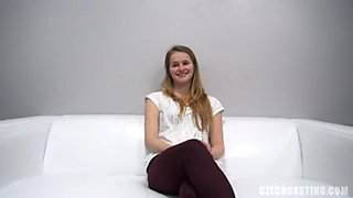 Lucie shy and innocent teen at casting