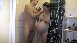 Pregnant Showering