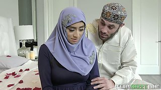 Juggy Arab wife Violet Myers does everything her husband desires on her wedding night