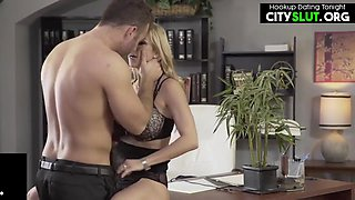Blonde Big-boobs Hot Milf Having Office Sex With Boss