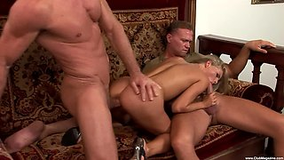 Naughty blonde wife Cayenne Klein wanted to try double penetration