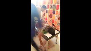 Aunty with big ass, touching & massage