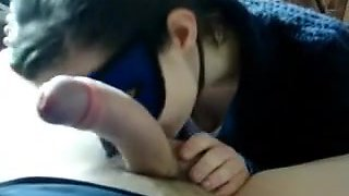 Home Clip - Smoker and masked French Girlfriend