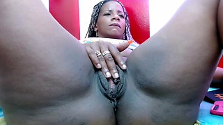 Ebony big pussy lips