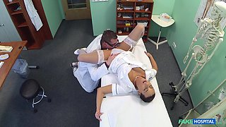 Nurse Mea Melone got horny and seduced the doctor for some dick