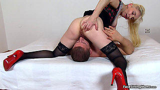 Mature Face Sitting on her Slave - Maya