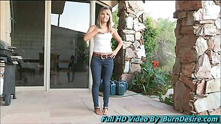 Amie beautiful teen supercute teen comes all the way from