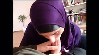 Arab whore in the mouth member at home sperm hijab