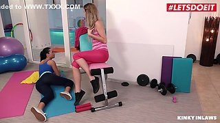 Step Sisters Share Daddys Big Cock After Gym With George Uhl