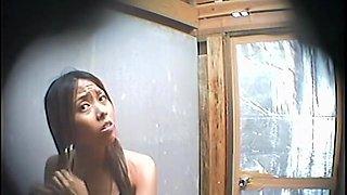Seducing Asian chicks show slender bodies on shower spy cam dvd TO-3965