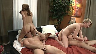 Real Couple Swinger Foursome