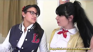 lesbian schoolgirls first strapon sex