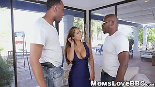 Amazing MILF railed hard by monster dicks in the shop