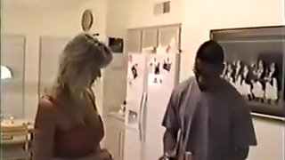 Cum in mouth and BBC double penetration for busty milf wife