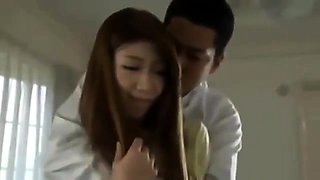Japanese teen hairy pussy rammed