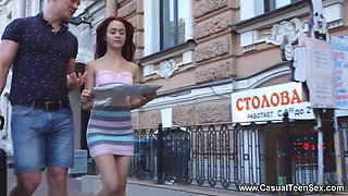 Michelle Can in Teen redhead sex in a big city