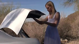 Beautiful Young Blonde Kidnapped in Desert Bound and Degraded
