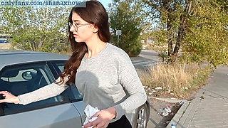 18yo TEEN WASHING CAR, PERFECT ASS FUCKED OUTDOOR IN PUBLIC.