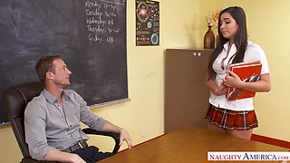 Curvy babe comes to professor's office to fuck and she's so persuasive