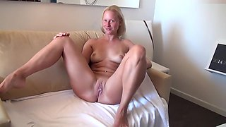 Horny amateur German, Blonde porn video