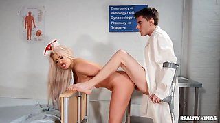 Brooklyn Blue And Jordi El Nino Polla In A Young Lucky Doctor Fucks A Super Busty Nurse In His Office