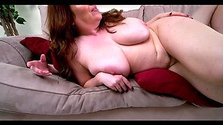 Busty MILF Maggie Takes Care of a Young Dick