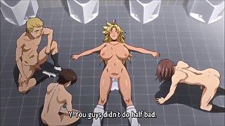 School hentai cum swallow