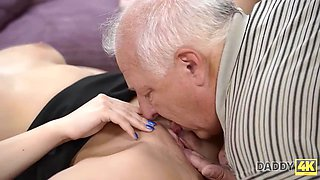 DADDY4K. Beautiful nymph enjoys taboo sex with her boyfriends old dad