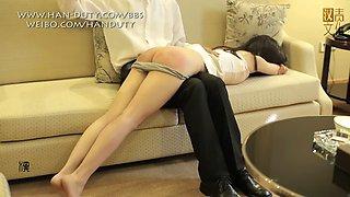 Sound otk spanking for chinese hottie