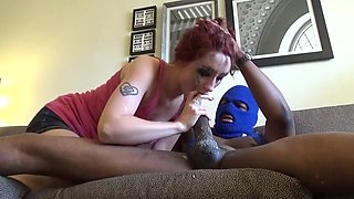 Redhead college girl  BBC Deepthroat